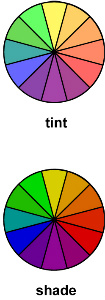 Showing Tint and shade in Garden Design